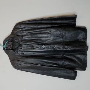 Vintage Danier Black Genuine Leather Jacket